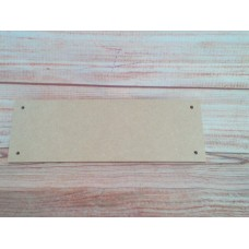 4mm Thick MDF Oblong Plaque 4 Holes